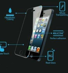 Защитное стекло на iPhone 4 - 4S