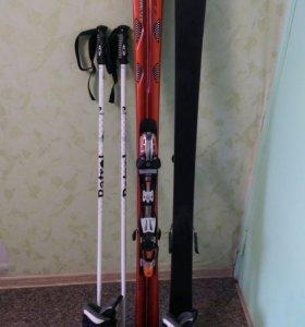Горные лыжи, палки.
