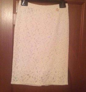 Кружевная юбка Cavalli