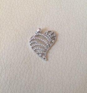 Кулон с бриллиантами новый