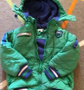 Куртка-жилет весна/осень на флисе,110см