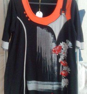 Платье-туника 52-54