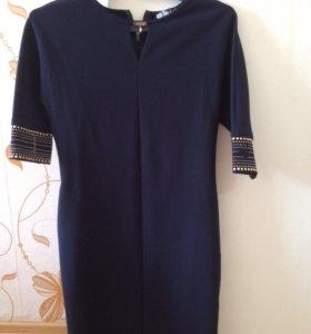Платье темно синее