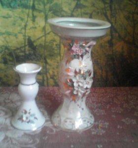 Фарфоровые вазочки, набор 2 шт
