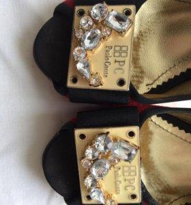 Туфли бархат Paolo Conte