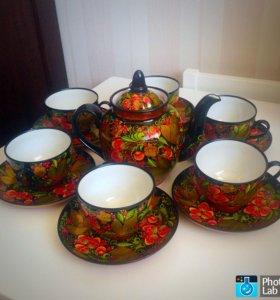 Чайный набор,хохлома-новый
