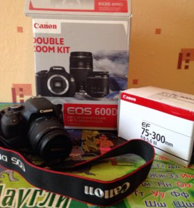 Canon eos600D double zoom kit