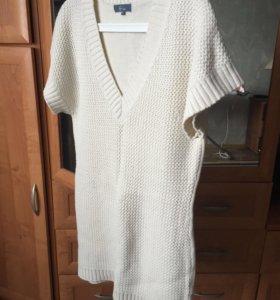 Свитер, вязаное платье 44-46р.