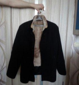 Куртка зимняя с подкладкой овчина