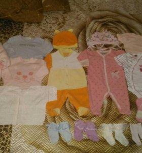 Пакет одежды для девочки р.62