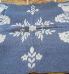 Новое одеяло детское шерстяное 100%