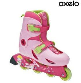 Ролики для девочки+ розовый шлем