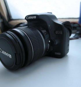 Canon 500D KIT + флешка