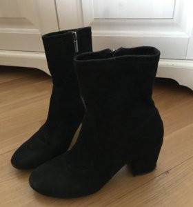 Замшевые ботиночки Stradivarius