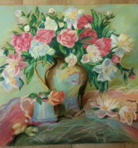 """Картина """"Цветочный натюрморт"""""""