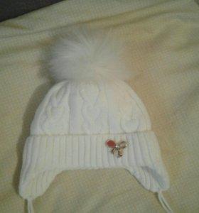 Зимняя шапочка от 6 мес до года