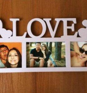 Фоторамка Love, Любовь