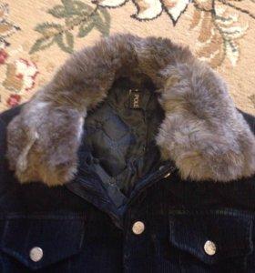Куртка вельвет , мех натуральный кролик