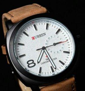 Стильные часы Curren( отличное качество)
