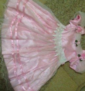 Платье на девочку 3-5лет