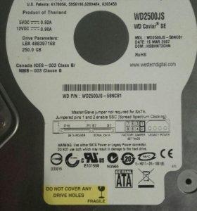 Жесткий диск на 250 гб