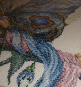 """Картина """"Бабочка ночь"""", вышивка крестом"""