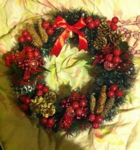 Рождественские украшения, свечи и магниты на заказ