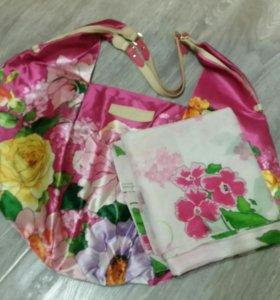 Пляжная сумка и легкий шарф