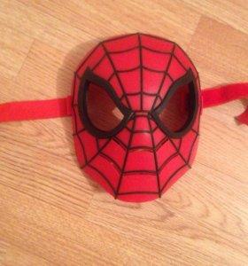 Маска человека паука( на липучках)