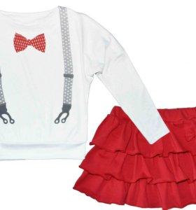 Комплект с юбкой кулирка с лайкрой 134, 140-146