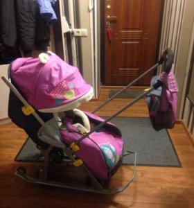 Детская коляска санки Nika