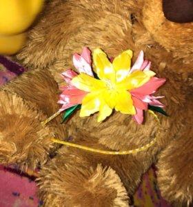 Ободок с цветком (ручная работа)