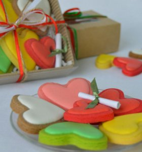 Печенье ко Дню Всех Влюблённых