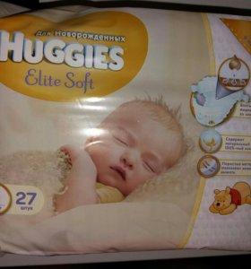 Подгузники HUGGIES EliteSoft для новорожденных .
