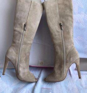 Сапоги кожаные размер 37