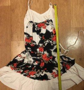 Летнее платье 44-46 с кулиской