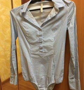 Классическая рубашка боди Stradivarius
