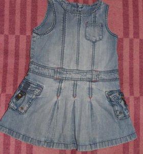Платье джинсовое Next на 98-104