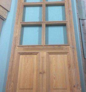 Дверь, массив сосны, некрашеная, 900х2000