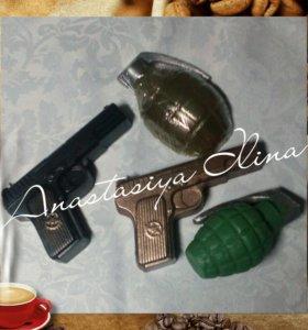 Пистолет - мыло ручной работы