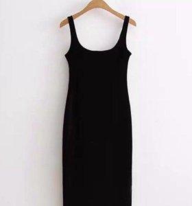 Бархатное платье Zara