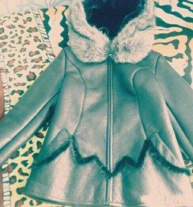 Куртка кожаная зимняч