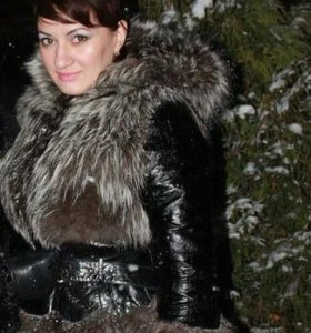 Шуба натуральная.Чернобурка