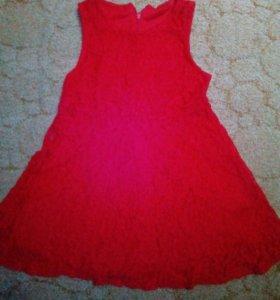 Гипюровое платье на девочку 3-5 лет