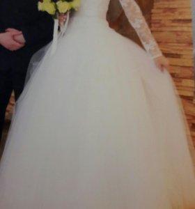 Свадебное платье, болеро.