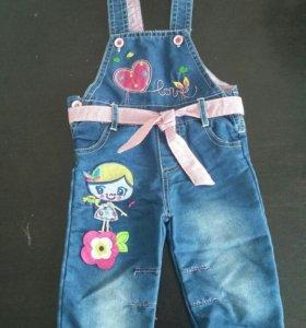 Продам джинсовый комбинезон р. 74