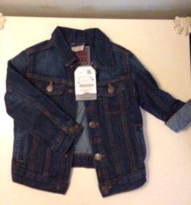 Джинсовая куртка Zara baby новая р.104