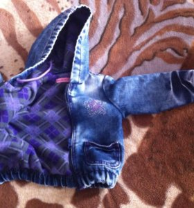 Куртка джинсовая на флисе