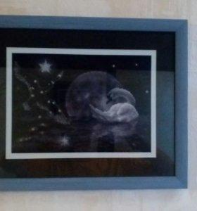 "Картина ""Лунный лебедь"""