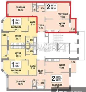 2-х комнатная квартира, липовый парк 10к3